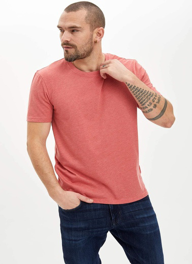 DeFacto Basic Regular Fit T-Shirt Oranj